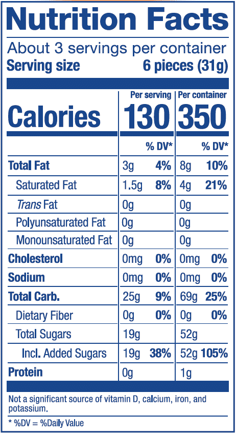 Nutrition Label Fruit Combos Mix Bag