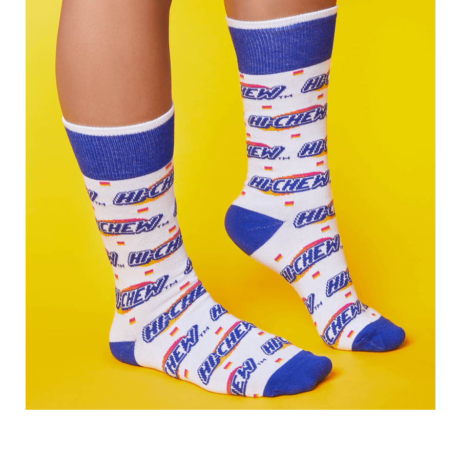Step n Repeat HI-CHEW Logo Socks